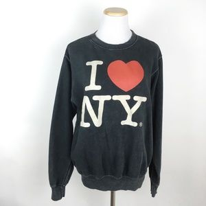 JOHN GALT I Love New York Sweatshirt Heart NYC